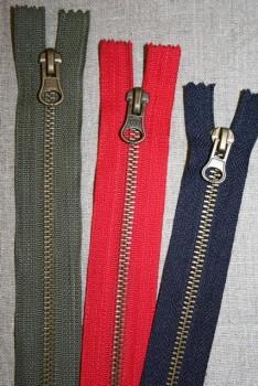 14, 18 og 20 cm. metal lomme-/bukselynlås