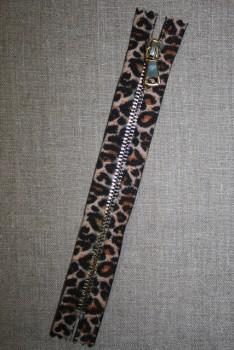 18 cm. lynlås metal leopard/guld