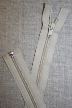 49 cm. delbar lynlås YKK, sand