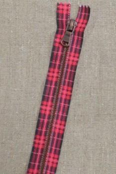 18 cm. lynlås metal pink m/skotsk tern