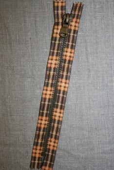 18 cm. lynlås metal orange m/skotsk tern