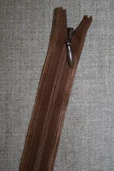 14 cm usynlig lynlåse gyldenbrun