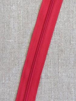 Lynlås i metermål, rød