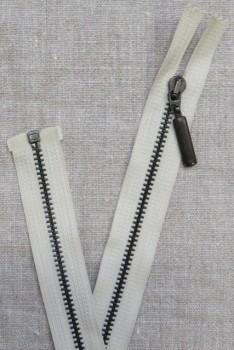 55 cm. delbar lynlås i kit - oxyderet