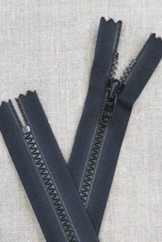 20 cm. plast lynlås sort 6 mm. lommelås