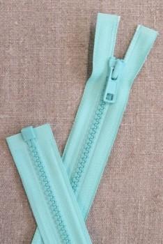 60 cm. delbar plast lynlås i aqua, YKK