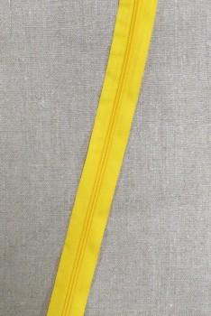 Lynlås i metermål, gul