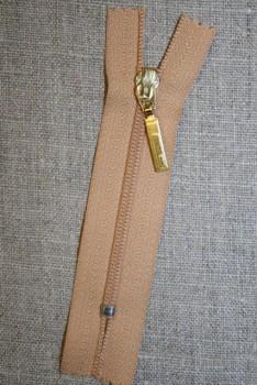 08 cm. lynlås m/guld vedhæng lys camel