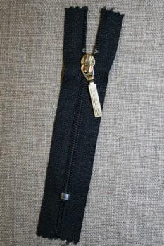 08 cm m/guld vedhæng mørkeblå