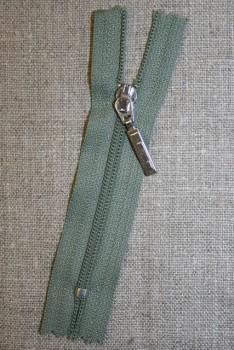 08 cm m/sølv vedhæng, støvet grøn