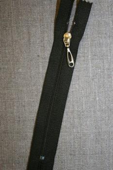 13 cm plast lynlås -guld vedhæng, army