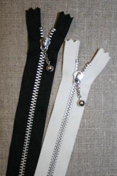 25 cm. metallynlås med kugle YKK 4 mm.