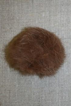 Pels-pompon af kanin, 6 cm. brun