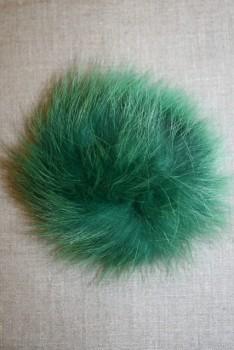 Pels-pompon af ræv, 10-12 cm. grøn