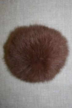Pels-pompon af kanin, 100 mm. brun