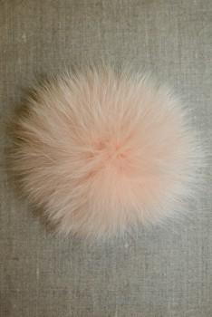 Pels-pompon af ræv, pudder 10 cm.