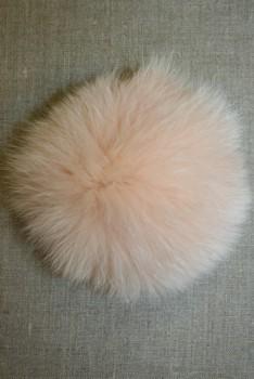 Pels-pompon af ræv, pudder 14 cm.