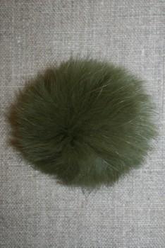 Pels-pompon af kanin, 6 cm. army
