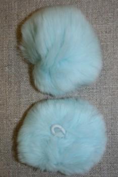 Pels-pompon af kanin, 6 cm. aqua