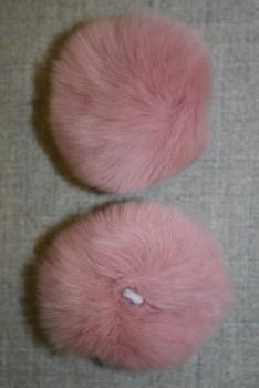 Pels-pompon af kanin, 6 cm. gl.rosa