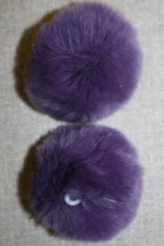 Pels-pompon af kanin, 6 cm. lilla