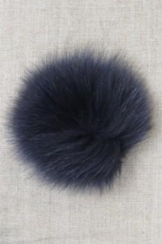 Pels-pompon af ræv, marine 10 cm.