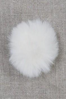 Pels-pompon i akryl i offwhite, 5 cm.