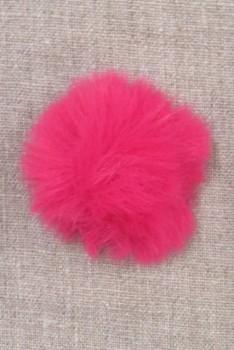 Pels-pompon i akryl i pink, 5 cm.