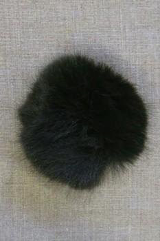 Pels-pompon i akryl i mørk flaskegrøn, 8 cm.