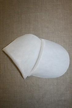 Skulderpude tynd, hvid