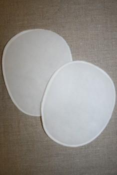 Skulderpude tynd oval, hvid