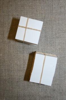 Firkantet pap til patchwork, 3x3 cm.