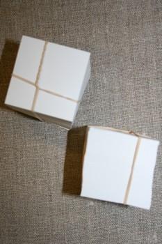 Firkantet pap til patchwork, 4x4 cm.