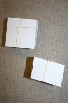 Firkantet pap til patchwork, 6x6 cm.