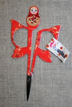 Lille sysaks m/babuska 11 cm., rød