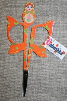 Lille sysaks m/babuska 11 cm., orange