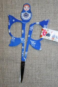 Lille sysaks m/babuska 11 cm., blå