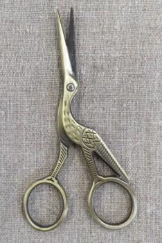 Storkesaks i antik guld 11½ cm.