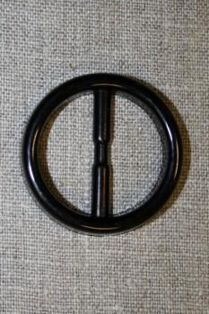 Plast spænde rundt 30 mm. sort