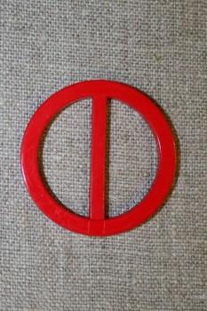 Plast spænde rundt 30 mm. rød