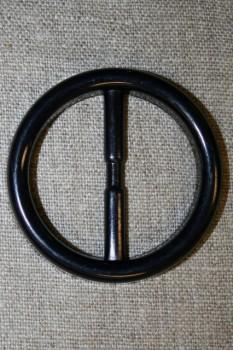 Plast spænde rundt 40 mm. sort