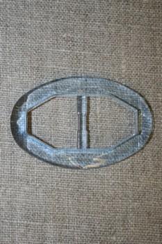 Plast spænde oval klar 20 mm. lys blå