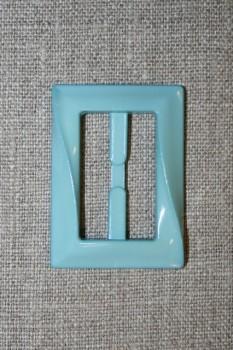 Plast spænde aflang 30 mm. aqua