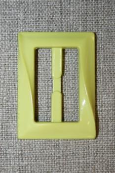 Plast spænde aflang 30 mm. lys lime