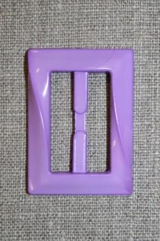 Plast spænde aflang 30 mm. lyselilla