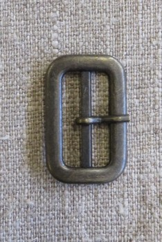 Spænde med dorn/split, gl.guld 25 mm.