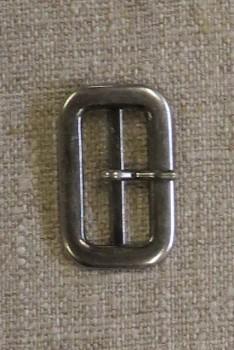 Spænde med dorn/split, gl.sølv 25 mm.