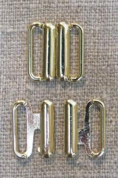 Bikini-lukning i guld 12 mm.