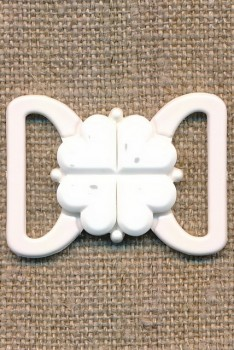 Bikini-lukning i hvid plast 20 mm.