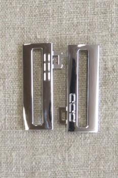 40 mm. spænde til elastikbælter, sølv